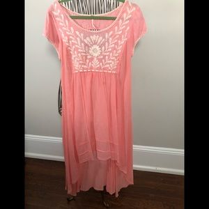 Free People Embroidered Dress M